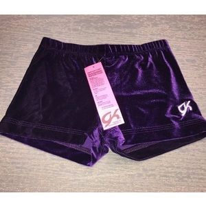AM GK Elite Velvet Gymnastics Bar Bike Shorts NWT